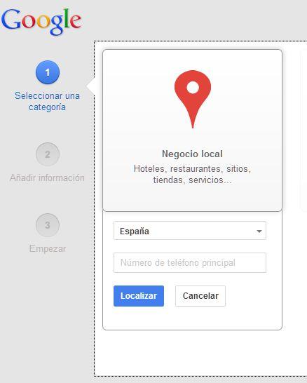 Categoría Página google +