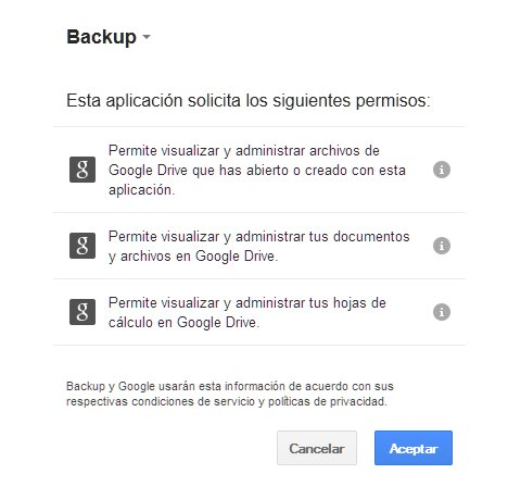 Backup de WordPress a Google Drive