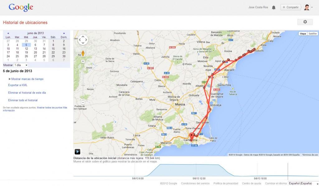 historial ubicaciones 1024x599 Historial de Ubicaciones Google y alternativas a Latitude