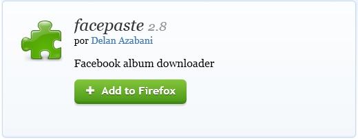 Instala facepaste en Firefox